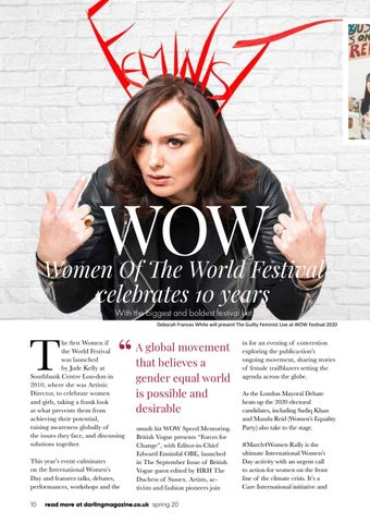 Page 10 of WOW Women of the Wold Festival turns 10