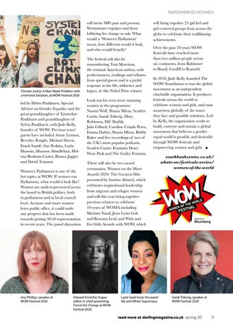 Page 11 of WOW Women of the Wold Festival turns 10