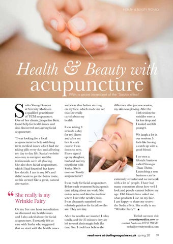 Page 19 of Acupuncture for health and beauty at Serenity Medica