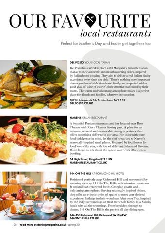 Page 20 of Our picks for local dining, lunching and afternoon tea