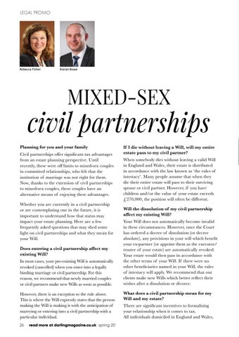 Page 26 of Russell-Cooke sheds light on mixed-sex civil partnerships and Wills