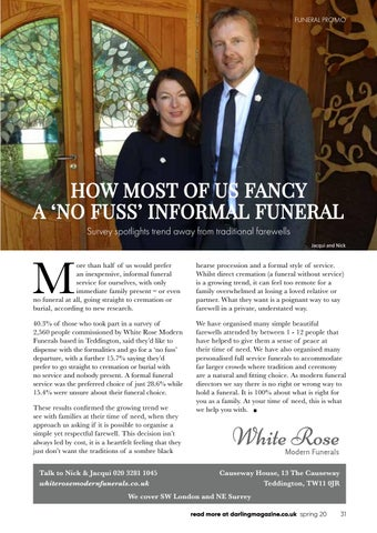 Page 31 of White Rose Modern Funerals do things a little differently