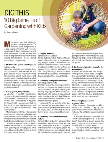 Page 13 of Dig This: 10 Big Benefits of Gardening with Kids