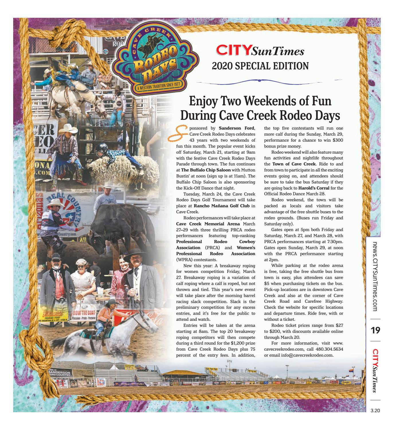 Cave Creek Rodeo Days CITYSunTimes March 2020 Special Edition by