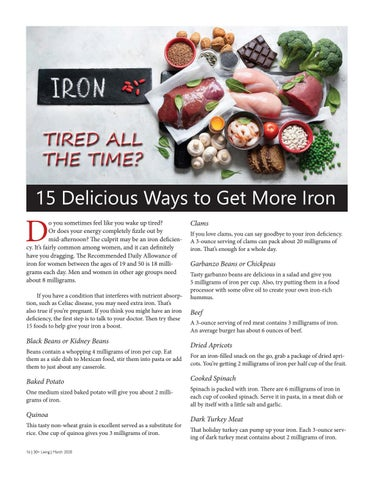 Page 16 of Delicious Ways to Get More Iron