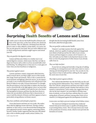 Page 8 of Health Benefts of Lemons and Limes