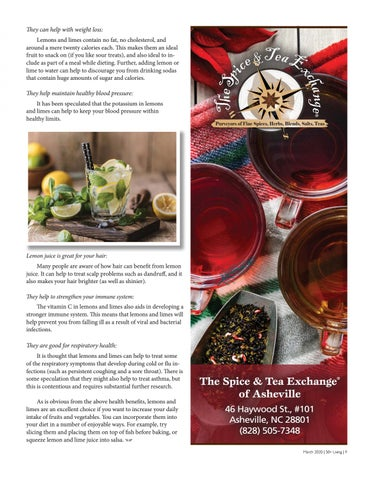 Page 9 of Health Benefts of Lemons and Limes