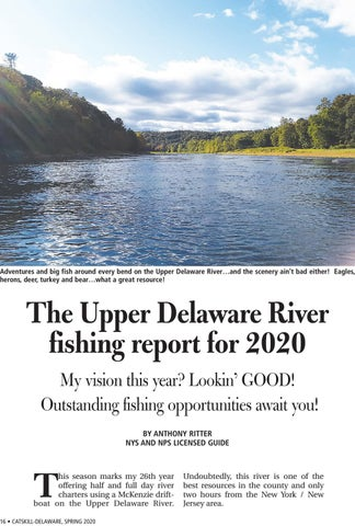 Page 16 of The Upper Delaware fishing report for 2020