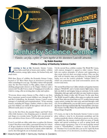 Page 60 of DISCOVERING KY: Kentucky Science Center