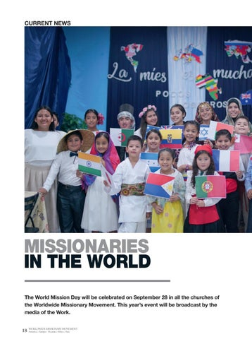 Page 18 of Current news MISSIONARIES IN THE