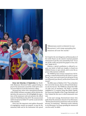 Page 19 of Current news MISSIONARIES IN THE