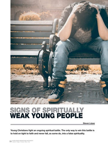 Page 22 of Youth SIGNS OF SPIRITUALLY WEAK