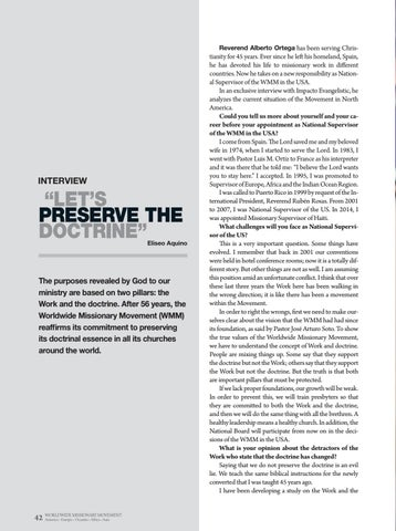 """Page 42 of Interview """"LET'S PRESERVE THE"""