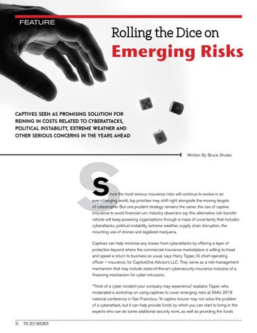 Page 10 of ROLLING THE DICE ON EMERGING RISKS