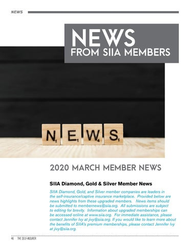 Page 46 of NEWS FROM SIIA MEMBERS