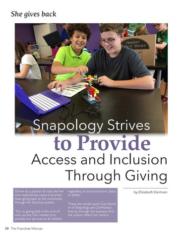 Page 10 of Snapology Strives to Provide Access and Inclusion Through Giving