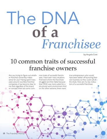 Page 16 of The DNA of a Franchisee