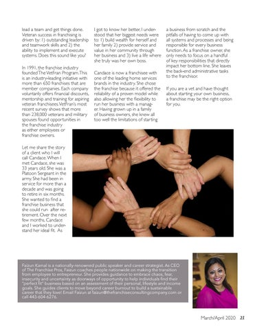 Page 21 of Vets in Franchising: From the  Battlefield to the Boardroom