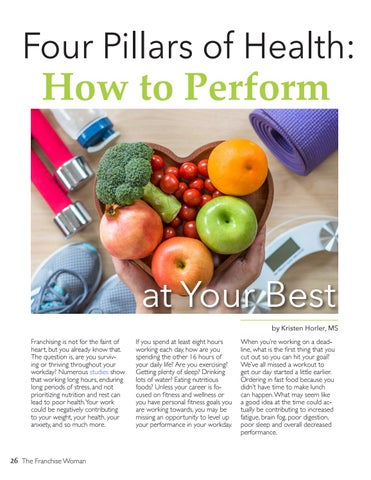 Page 26 of Four Pillars of Health, How to Perform at Your Best