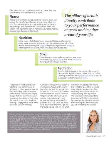 Page 27 of Four Pillars of Health, How to Perform at Your Best