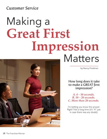 Page 28 of Making a Great First Impression Matters