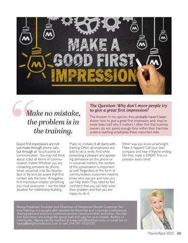 Page 29 of Making a Great First Impression Matters