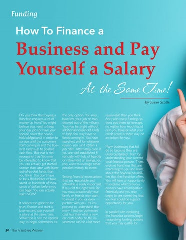 Page 30 of How to Finance a Business and Pay Yourself a Salary at the Same Time