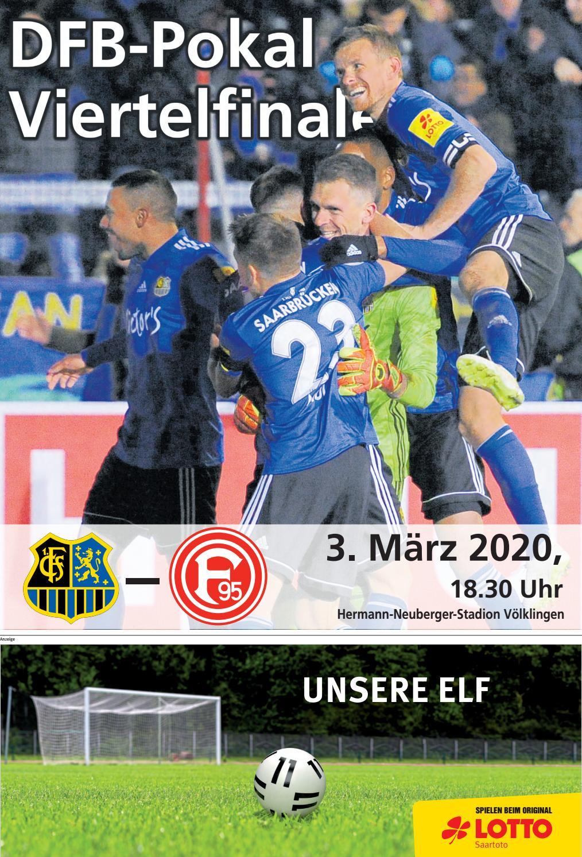 Pokalspiel Saarbrücken Düsseldorf
