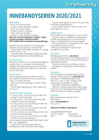 Page 27 of Innebandyserien 2020/2021
