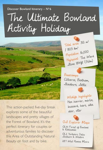 Page 52 of Discover Bowland Itineraries The Ultimate Bowland Activity Holiday