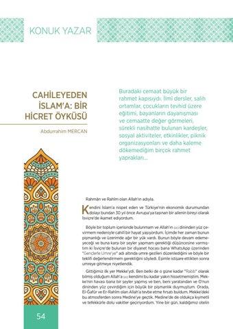 Page 54 of CAHİLEYEDEN İSLAM'A: BİR HİCRET ÖYKÜSÜ Abdurrahim MERCAN