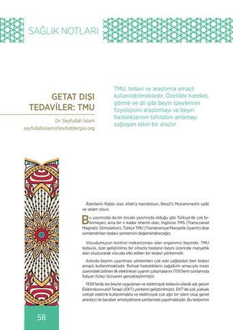 Page 58 of GETAT DIŞI TEDAVİLER: TMU Dr. Seyfullah İSLAM