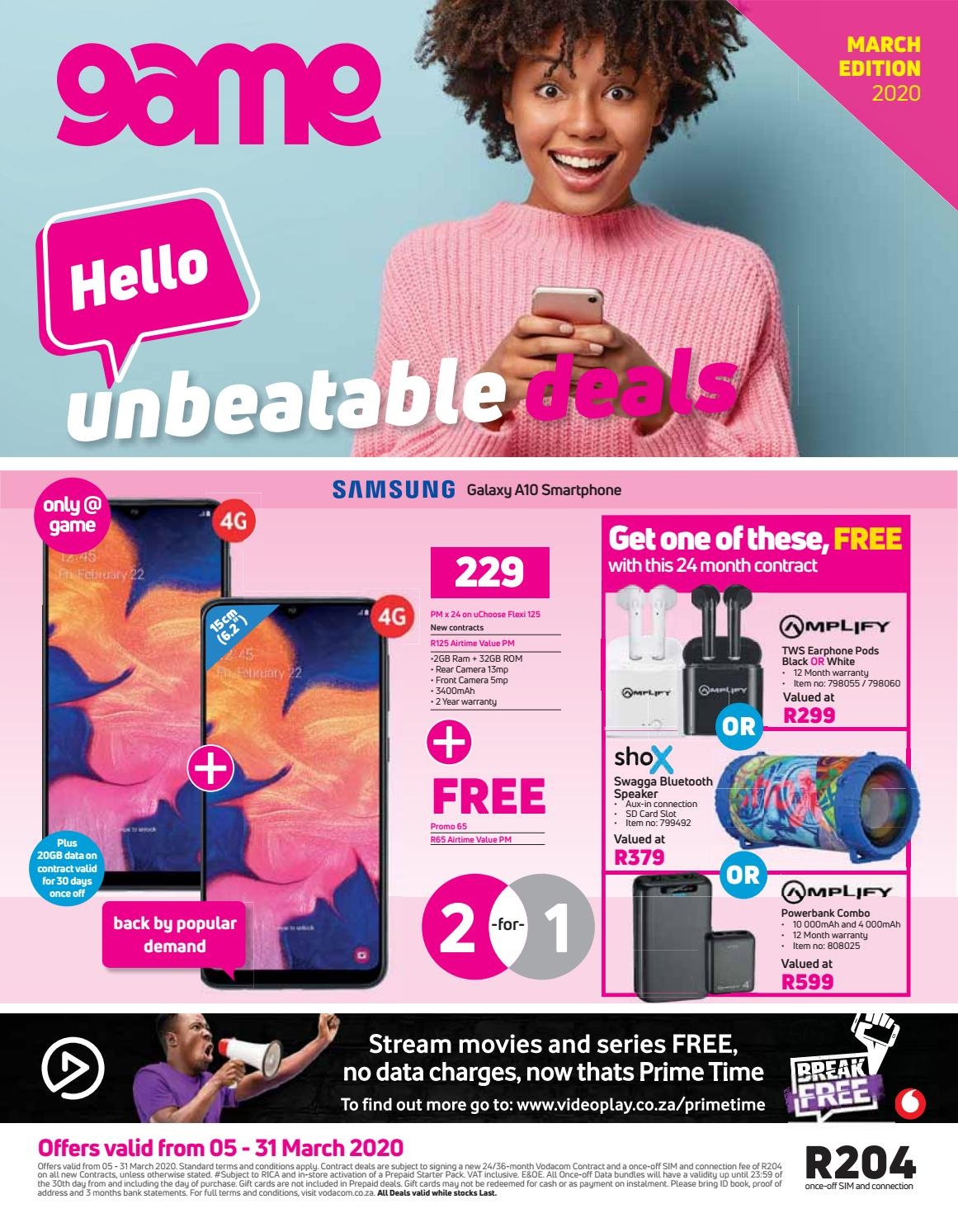 Game Sa Vodacom Cellular Leaflet 5 To 31 March 2020 By Game Stores Issuu