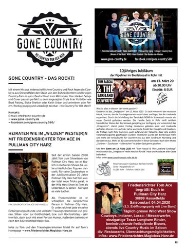Page 11 of Countryfest Raderbruch Friedensrichter Tom Ace Gone Country - Das Rockt
