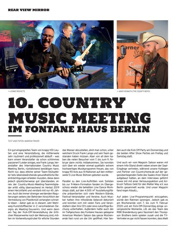 Page 16 of 10. Country Music Meeting Berlin