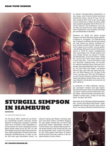 Page 20 of Sturgill Simpson in Hamburg