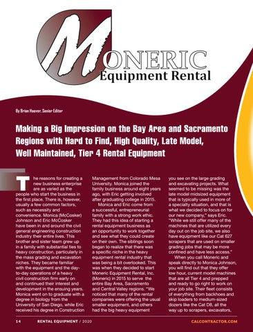 Page 14 of MONERIC EQUIPMENT RENTAL, INC