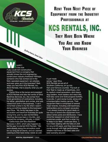 Page 20 of KCS RENTALS INC