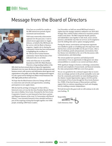 Page 4 of Message from the Board of Directors