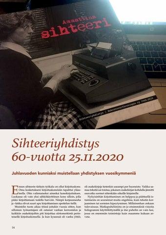 Page 14 of Sihteeriyhdistyksen vuosikymmenet