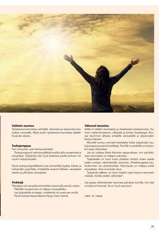 Page 25 of Taukojumppaa työpaikalla
