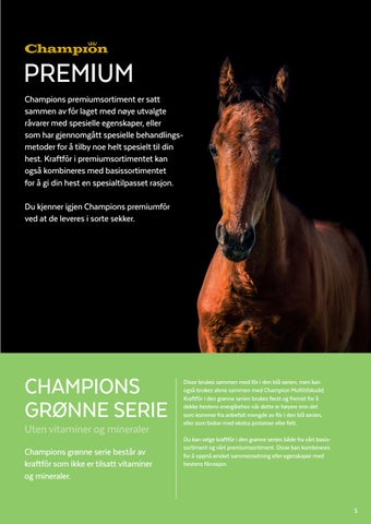 Page 5 of Champion Premium og Champions grønne serie