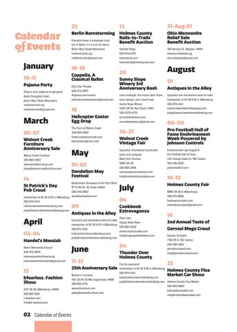Page 6 of Calendar of Events
