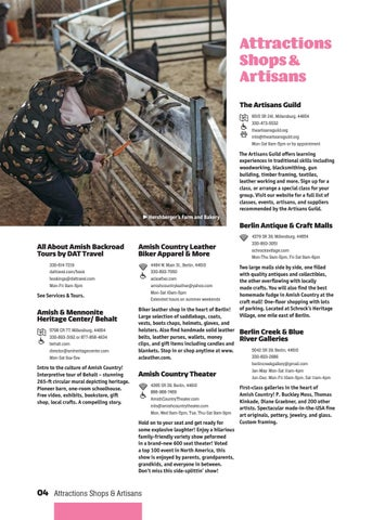 Page 8 of Attractions, Shops & Artisans