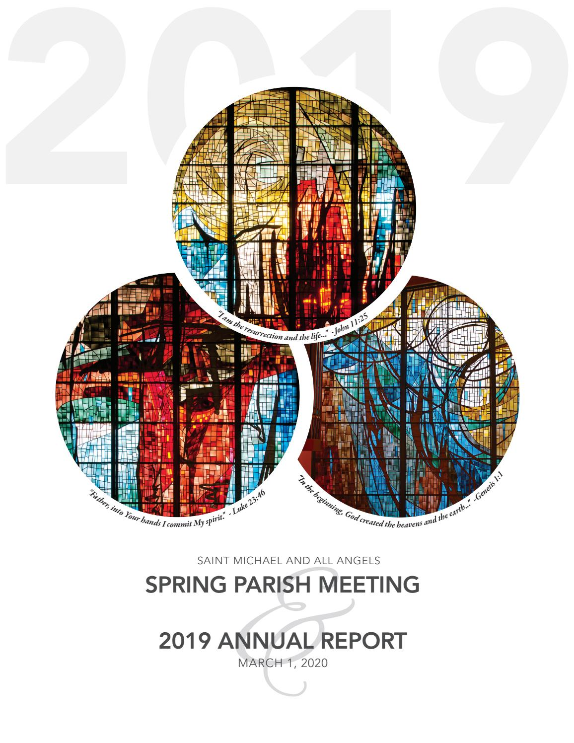 Annual Report 2019 By Saint Michael And All Angels Issuu