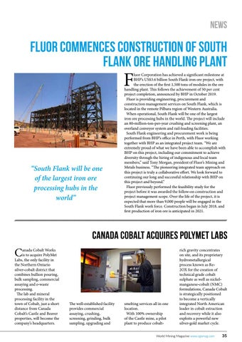 Page 35 of Fluor commences construction of South Flank ore handling plant