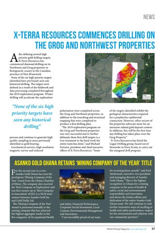 Page 37 of X-Terra Resources commences drilling on the Grog and Northwest properties