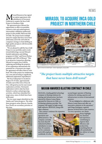 Page 41 of Mirasol to acquire Inca Gold Project