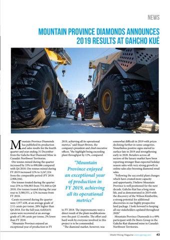 Page 43 of Mountain Province Diamonds announces