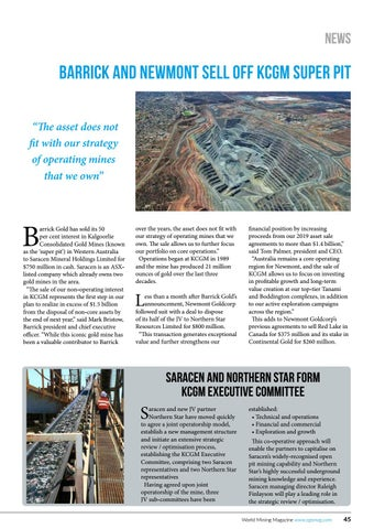 Page 45 of Barrick and Newmont sell off super pit